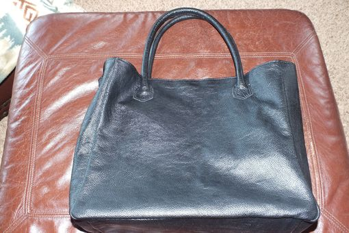 Custom Made Leather Computer Tote