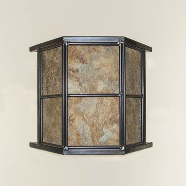 "Custom Made ""Pagoda"" Replaceable Tile Sconce"