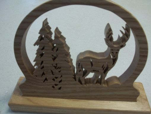 Custom Made Buck In The Pines, Horse With Man Kneeling At Cross