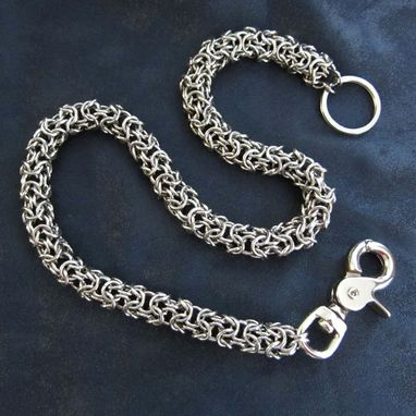 Custom Made Wallet Chain - Steel Turkish Round - Stainless