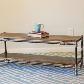 Industrial Pipe And Wood Coffee Table By Brady Yoder