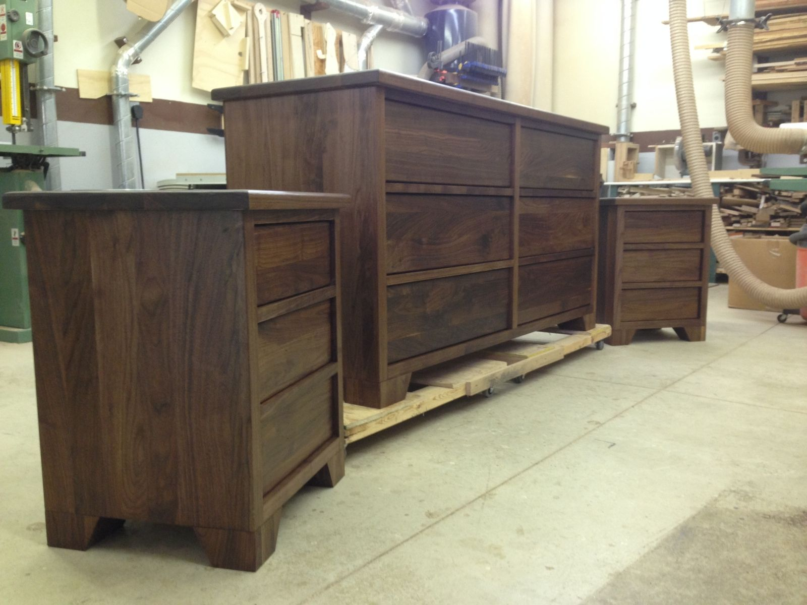 walnut bedroom set. Hand Crafted Walnut Bedroom Set by The Plane Edge  LLC CustomMade com