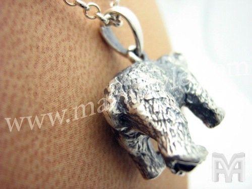Handmade sterling silver polar bear pendant by mava style sterling silver polar bear pendant aloadofball Choice Image