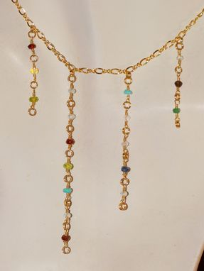 Custom Made Mother's Or Grandmother's Necklace, Gemstone Birthstone Necklace