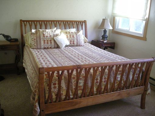 Custom Made Queen Size Bed -- Cherry