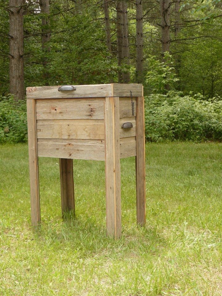 Hand Crafted Country Deck Cooler Barn Wood By Minnesota