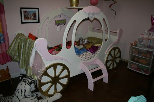 Custom Made Child's Princess Carriage Bed