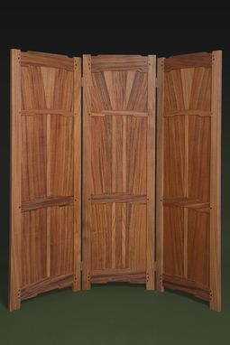 Custom Made Greene & Greene Mahogany Screen