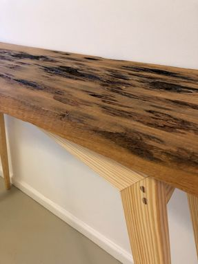 Custom Made Pecky Cypress Table