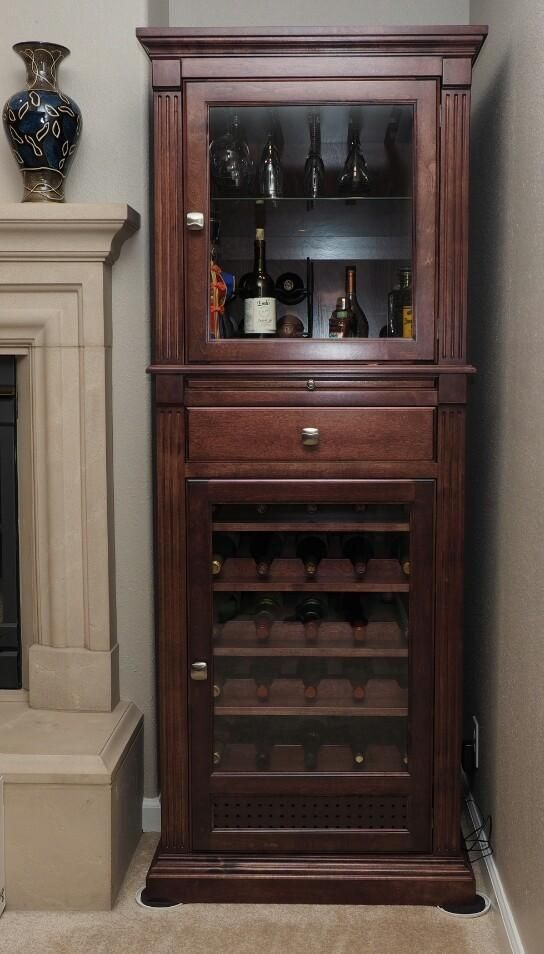 Handmade Wine Cabinet Curio Display Cabinet By Ziegler Woodwork And Specialty