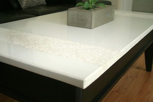 Custom Made White Damask Concrete