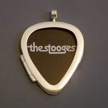 Custom Made Guitar Pick Locket In Sterling Silver