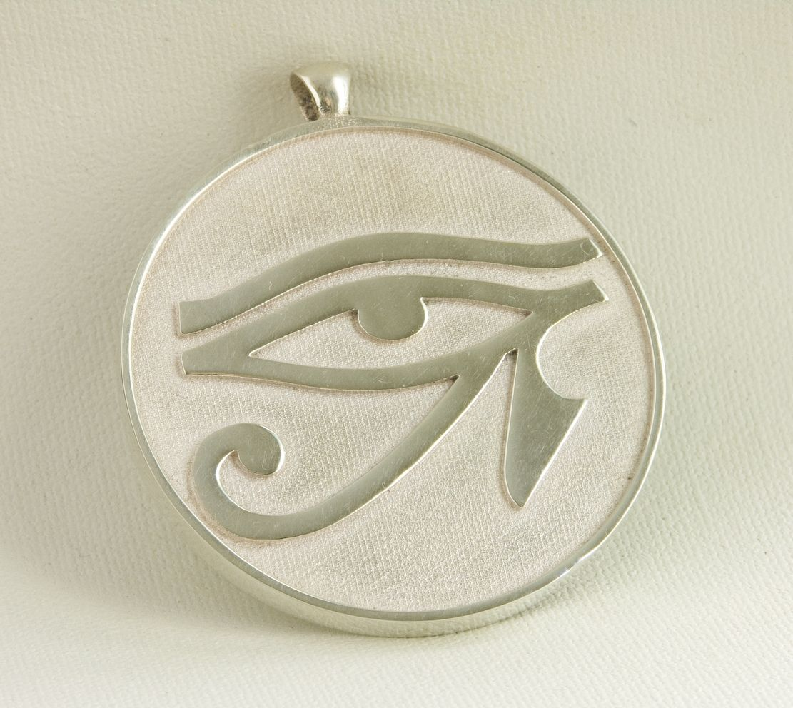 Hand Crafted Sterling Silver Egyptian Eye Of Horus Pendant by Third ... 576f45c10e91
