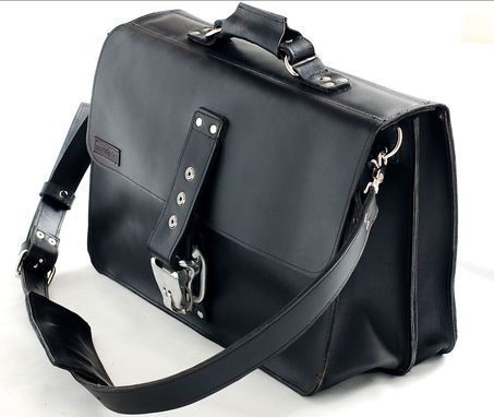 Custom Made Premium Leather Camera Bag Leather Laptop Bag, Lawyers Bag, Doctor Bag, Carry All Bag, - Made In Usa