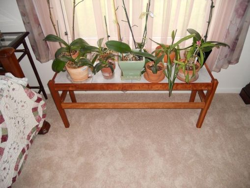 Custom Made Cherry Plant Table