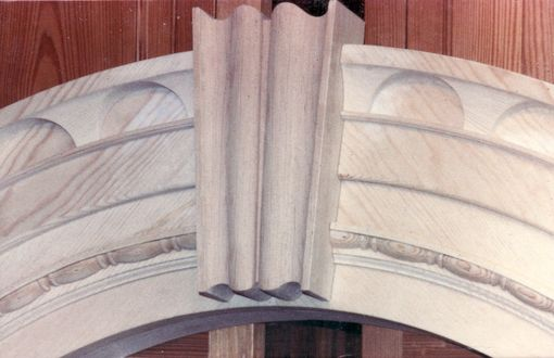 Custom Made Key Arched Pediment Entryway Reproduction