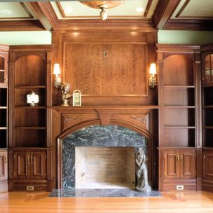Albert grant albert s grant fine woodworking and design melrose ct cherry residential library by malvernweather Image collections