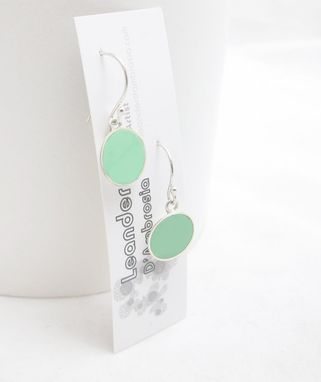 Custom Made Mint Earrings - Green Earrings - Mint Dangle Pastel Green Earrings - Soft Green Earrings