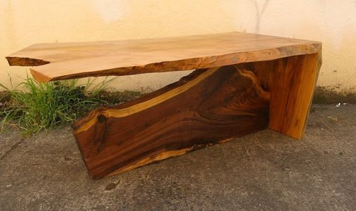 Custom Made Maple And Walnut Coffee Table