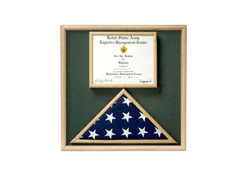 Custom Made Flag And Certificate Combination Box Flag Certificate Display