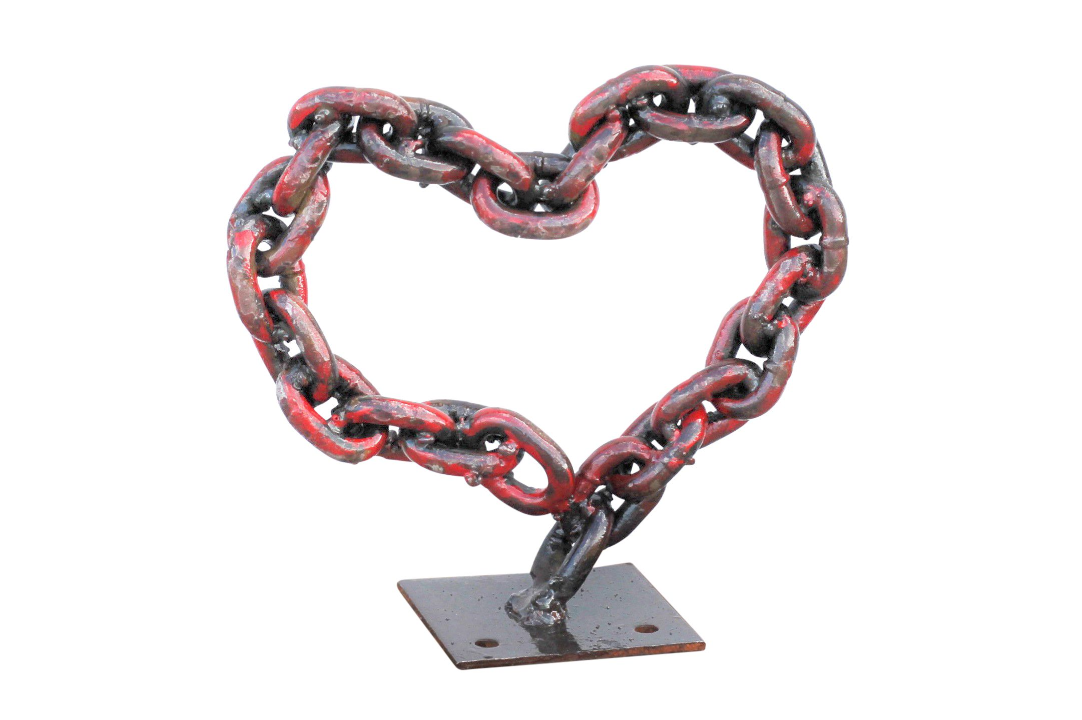Buy a hand made metal red chain heart valentines day gift ideas custom made metal red chain heart valentines day gift ideas for her she negle Images