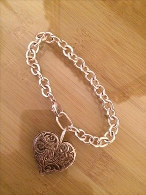 Custom Made Tiffany Style Heart Bracelet