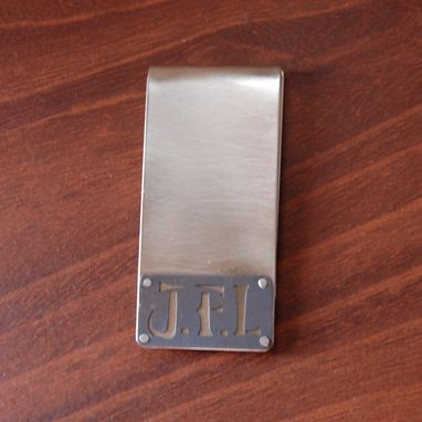 Custom Made Personalized Sterling Silver Money Clips