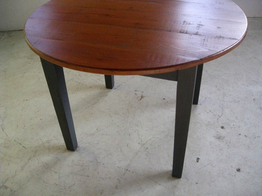 Hand Crafted Small Round Kitchen Dining Table With