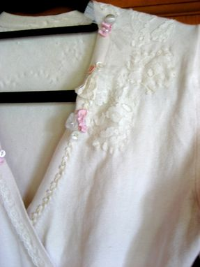 Custom Made Erin - Upcycled Bridal Wedding Rustic Chic Vintage Blush Knit Wrap Cardigan Sweater