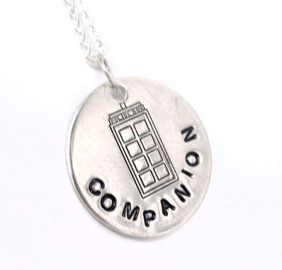 "Custom Made Sterling Silver Customizable Small Pendant, 3/4"" Disc, Hand Stamped - Designs Also Available"