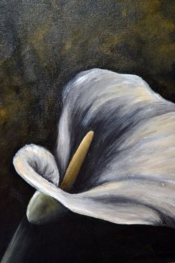 Custom Made 16x16 Original Modern Semi Impressonist Contemporary Calla Lily Painting By Alisha