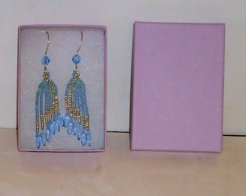 Custom Made Beaded Earrings, Fine Jewelry, Dangling Beaded Earrings With Fine Silver Earwire