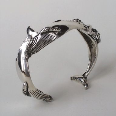 Custom Made Humpback Whale Bracelet In Sterling Silver