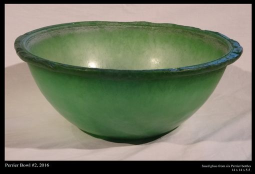 Custom Made Recycled Glass Serving Bowls