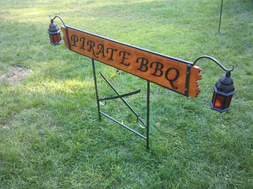 Custom Made Business Sign - Custom Burnt