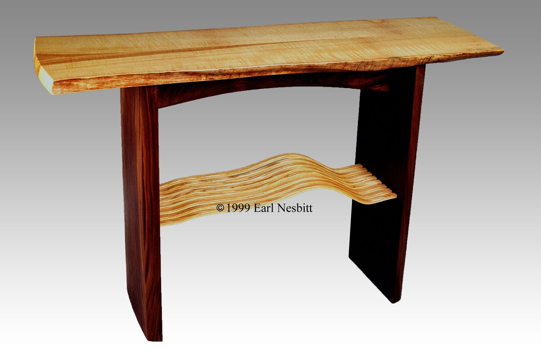 Live edge entry tables hall tables and accent tables slab hall table live edge ash and walnut geotapseo Choice Image