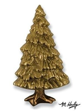 Custom Made Fir Tree Door Knocker Brass/Bronze