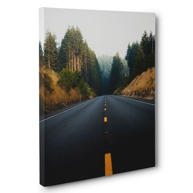 Custom Made Driving In Open Road Canvas Wall Art