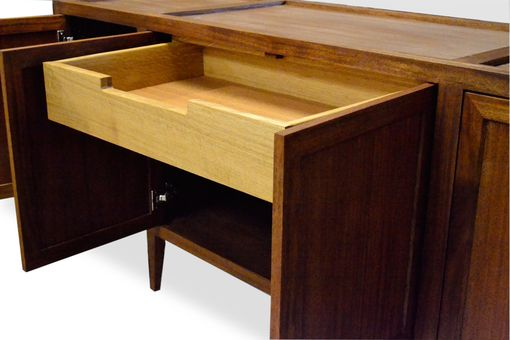 Custom Made Modern Mahogany Buffet