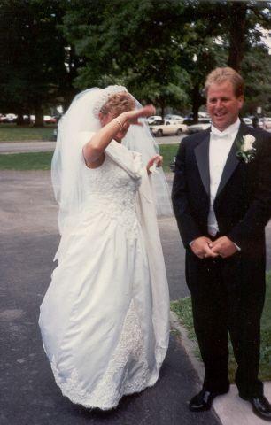 Custom Made Elegant White Silk Satin Wedding Gown by Heaven Sent ...
