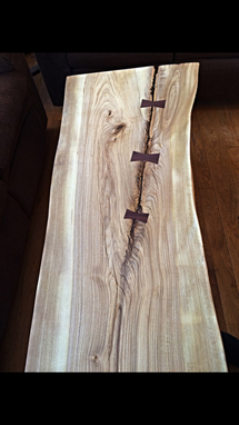 Custom Made Live Edge Hackberry Coffee Table