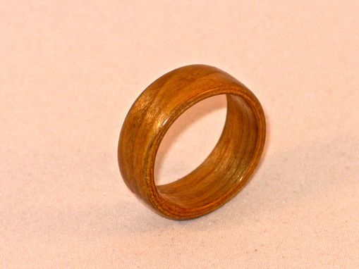 Custom Made Cherry Bentwood Ring- Handmade Wooden Ring