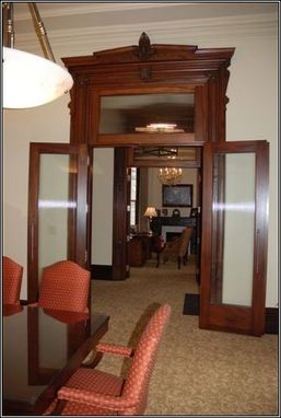 Custom Made Reproduction Mahogany Doors