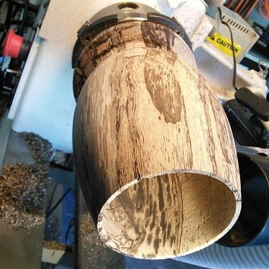 Custom Made Spalted Hickory Closed Vessel
