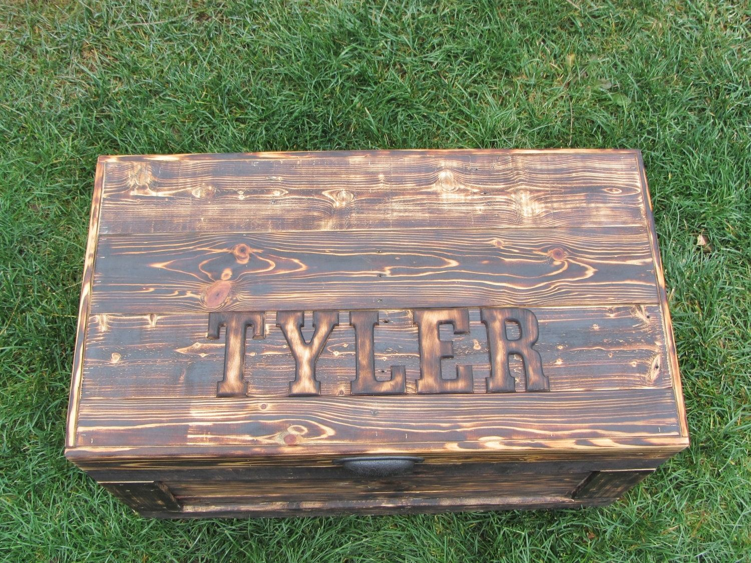 Hand Crafted Personalized Wood Chest Large Made From