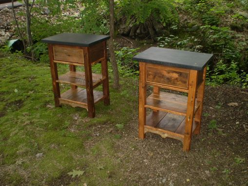 Custom Made Custom Reclaimed Soapstone Top Bathroom Stands