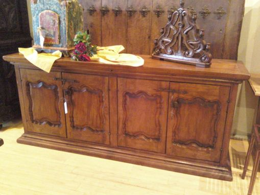 Custom Made Carved Colonial Sideboard