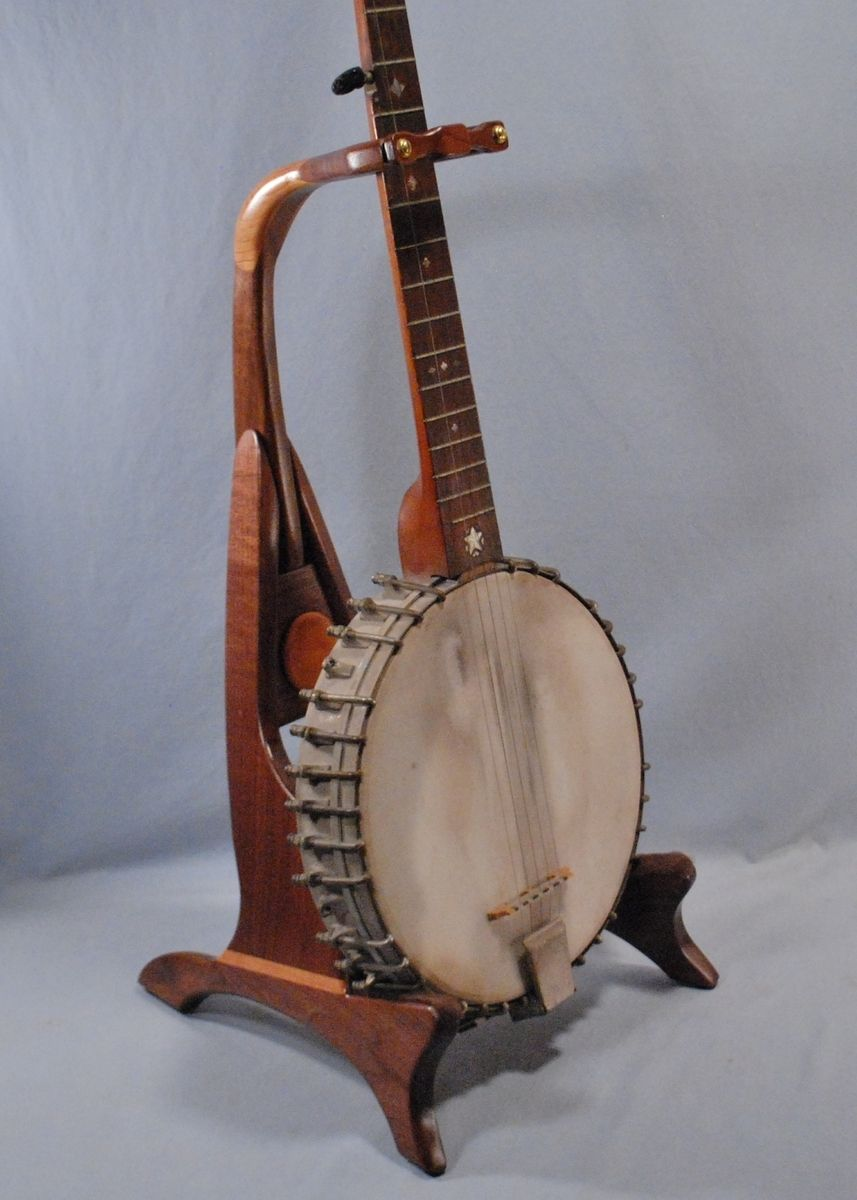 Hand Made Banjo Stand By South Mountain Woodworks