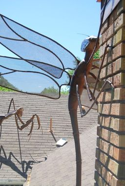 Custom Made Large Dragonfly Metal Sculpture