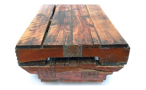 Custom Made Upcycled Pallet Coffee Table, Summer Pallet